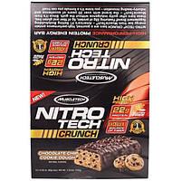 Muscletech, Nitro Tech Crunch Bars, Chocolate Chip Cookie Dough,12-2.29 oz (65g), Net Wt 1.72 lbs