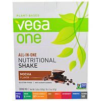 """Vega, """"Вега-один"""", коктейль со вкусом моккачино, 10 пакетиков по 1,5 унции (42 г)"""