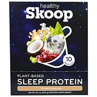 Healthy Skoop, Протеин для сна на Растительной Основе, Tirami-Snooze,10 упаковок, 0,95 унции (27 г) Каждая