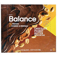 Balance Bar, Батончик Здорового Питания, Шоколадное Арахисовое Масло, 6 батончиков, 1,76 унции (50 г) каждый