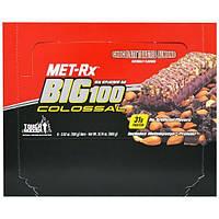 MET-Rx, Big 100, Батончик Вместо Еды, Шоколад с Жареным Миндалем, 9 батончиков, по 3,52 унции (100 г) каждый