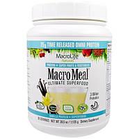 Macrolife Naturals, MacroMeal, Основное супер питание, ваниль, 39.5 унции(1,120 г)