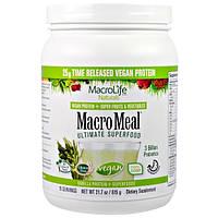 Macrolife Naturals, MacroMeal, Веганское, основное супер питание, ваниль, 21.7 унции(615 г)