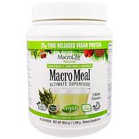 Macrolife Naturals, MacroMeal, Веганское, основное супер питание, ваниль, 40.5 унции(1,148 г)