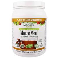 Macrolife Naturals, MacroMeal,  Основное супер питание, шоколадный  протеин + супер питание, 23.8 унции(675 г)