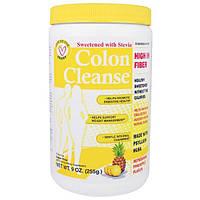 """Health Plus Inc., """"Чистка кишечника"""", средство для чистки толстого кишечника, подслащенное стевией, с освежающим ананасовым вкусом, 9 унций (255 г)"""