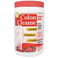 """Health Plus Inc., """"Чистка кишечника"""", средство для чистки толстого кишечника, подслащенное стевией, с освежающим клубничным вкусом, 9 унций (255 г)"""