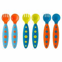 Boon, Modware, детская посуда, 9 + месяцев, голубая, набор из 6 предметов