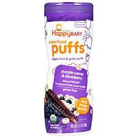 Nurture Inc. (Happy Baby), Органика, суперпродукт подушечки, фиолетовая морковь и черника, 2,1 унции (60 г)