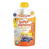 Nurture Inc. (Happy Baby), Счастливый малыш, суперутро, фрукты, смесь йогурта и зерна, органические бананы, голубика, йогурт и овес плюс супер чиа,