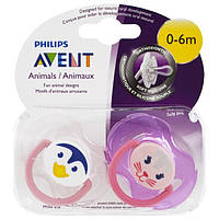 Philips Avent, Soft and Silicone Orthodontic Pacifier, 0-6 Months, 2 Pack