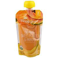 Nurture Inc. (Happy Baby), Органическое детское питание, банан, сладкий картофель и папайя,  2-й этап, 6+ месяцев, 4,0 унции(113 г)