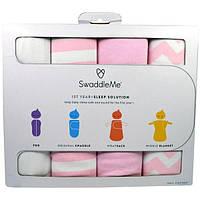 """Summer Infant, """"СпеленайМеня"""", пеленальный набор для сна, 1 год+, розовый, набор из 4 предметов"""
