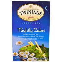 Twinings, Травяной чай, Спокойной ночи, от природы не содержит кофеина, 20 пакетиков, 1,02 унции (29г)
