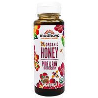 Madhava Natural Sweeteners, Органический мед, Чистый и Необработанный, 12 унций (340 г)