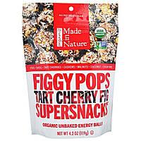 """Made in Nature, """"Инжирные суперснэки"""", органические инжирные снэки со вкусом терпкой вишни и инжира, 4,2 унции (119 г)"""