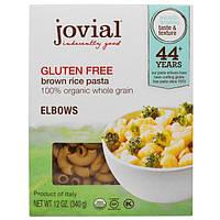 Jovial, Органическая паста (макаронные изделия) из коричневого риса, рожки, без глютена, 12 унций (340 г)