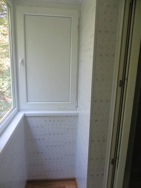 Балкон под ключ с крышей 1