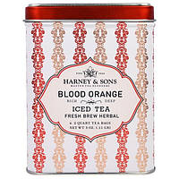 Harney and Sons, Кроваво-красный Апельсин, Ледяной Чай, 6 Пакетиков по 3 унции (0,11 г)