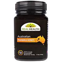 Real Health, Австралийский мед манука,  MGO 100, 17.6 унции(500 г)