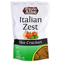 SALE, Foods Alive, Льняные крекеры, итальянская изюминка, 4 унции (113 г)
