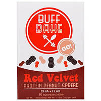 Buff Bake, Протеиновый Спред с Арахисом, 10 Мягких Пакетов, по 1,15 унций (32 г) каждый