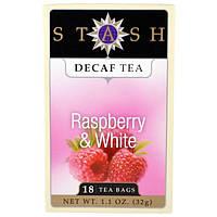 Stash Tea, Декофеинизированный чай, клубничный белый, 18 чайных пакетиков, 1,1 унции (32 г)