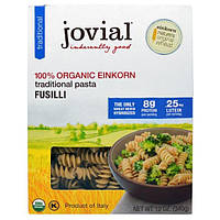 Jovial, Органическая традиционная паста (макаронные изделия), фузилли, 12 унций (340 г)