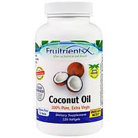 Fruitrients, Кокосовое масло, 100% чистое, экстра-класс, 120 мягких капсул