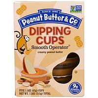 """Peanut Butter and Co., """"Великий комбинатор"""", густая арахисовая паста в удобных стаканчиках для макания, 5 стаканчиков по 1,5 унций (43 г)"""