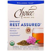 """Choice Organic Teas, """"Отдых гарантирован"""", органический чай от бессонницы, 16 чайных пакетиков, 0,90 унции (25,6 г)"""
