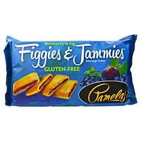 Pamela's Products, Figgies и Jammies, очень большие печенья, голубика и инжир, 9 унций(255 г)