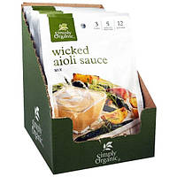 Simply Organic, Острый соус айоли, 12 пакетиков по 1,00 унции (28 г)