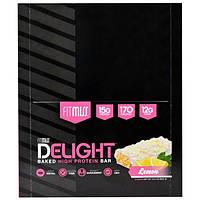FitMiss, Fit Miss Delight, Baked Protein Bar, Lemon, 12 Bars Net Wt 21.2 oz (600 g)