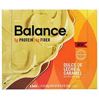 Balance Bar, Батончик Здорового Питания, Дульсе де Лече и Карамель, 6 батончиков, 1,41 унции (40 г) каждый