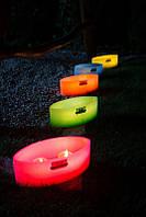 Декоративный подсвечник со свечей RAK G&S Lampion OWAL - Зеленый