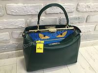 Ультрамодная женская кожаная сумка Fendi Peekaboo 3089
