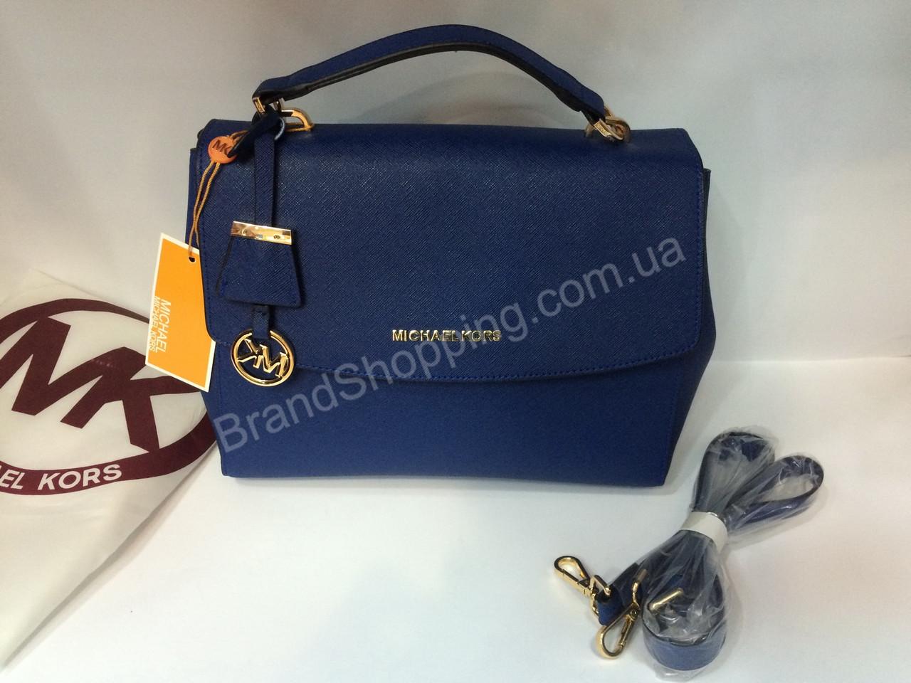 f90050917979 Женская кожаная сумка Michael Kors Blue0146s - Trendshops в Харькове