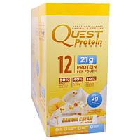 Quest Nutrition, Protein Powder, Banana Cream Flavor, 12 Pouches, 1.06 oz (30 g) Each
