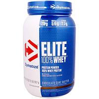 Dymatize Nutrition, Elite, 100-ный Сывороточный Протеин, Шоколадный Ванильный Кекс, 32 унции (907 г)