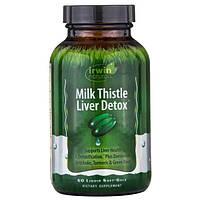 """Irwin Naturals, """"Чистка печени расторопшей"""", пищевая добавка для чистки печени с расторопшей, 60 мягких желатиновых капсул с жидкостью"""