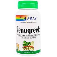 Solaray, Пажитник, 620 мг , 100 вегетарианских капсул