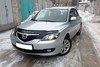 Дефлектор капота (мухобойка) Mazda 3 2003-2009 /хэтчбек