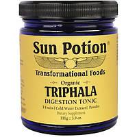 Sun Potion, Порошок Triphala, Органический Экстракт в Холодной Воде,  3,9 унции (111 г)
