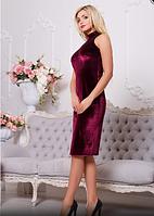 Эксклюзивное велюровое платье