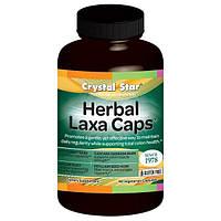 Crystal Star, Herbal Laxa Caps, 90 вегетарианских капсул
