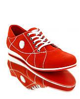 Кросівки жіночі червоні, нубук (2427 черв. Нб) Romastyle