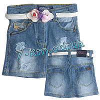 Юбка для девочек Rom7050.1 джинс 5 шт (1-5 лет)