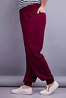 Герда. Женские штаны больших размеров. Бордо.