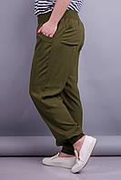 Герда. Женские штаны больших размеров. Хаки.